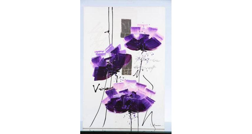 Tableau-Toile-Iceland-N23-Violet